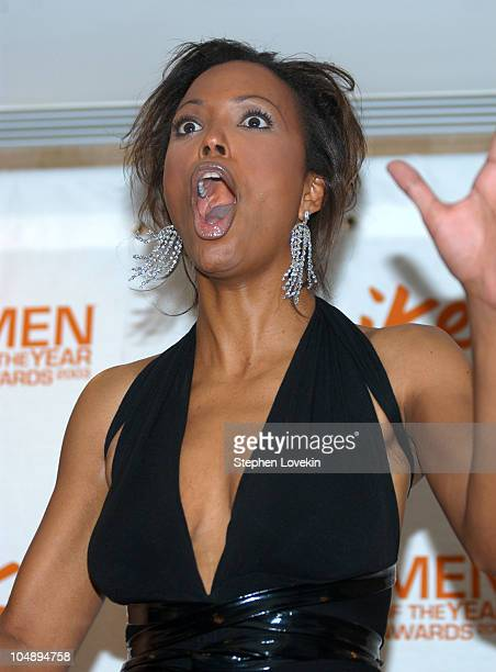 Aisha Tyler during Spike TV Presents 2003 GQ Men of the Year Awards Press Room at The Regent Wall Street in New York City New York United States