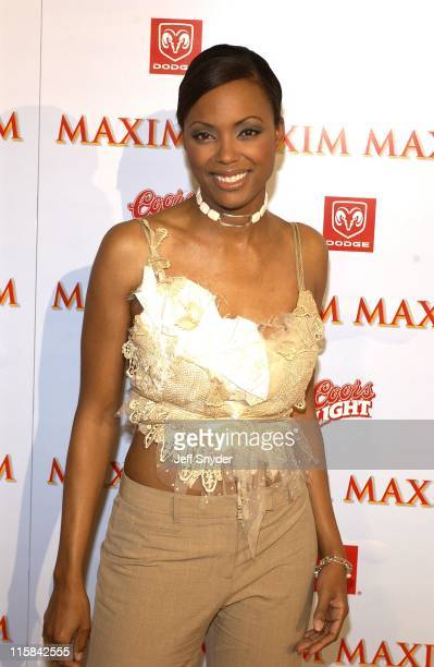 Aisha Tyler during The Maxim Party at Super Bowl XXXVII at The Old Wonderbread Factory in San Diego CA
