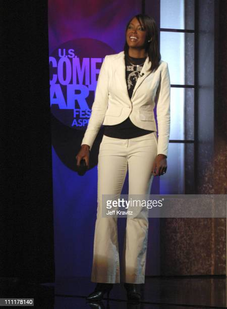Aisha Tyler during US Comedy Arts Festival 2005 TBS Very Funny Live at Wheeler Opera House in Aspen Colorado United States