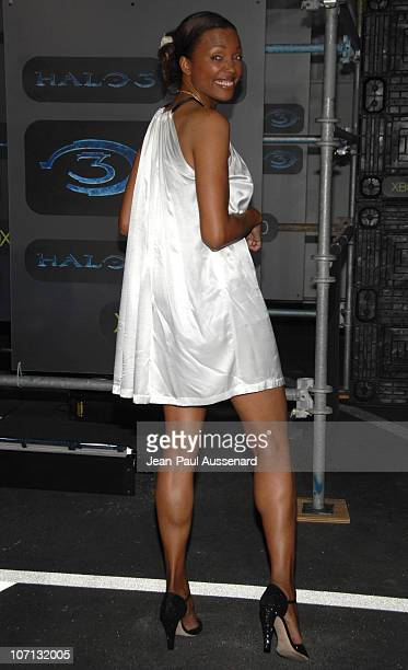 Aisha Tyler during Xbox 360 Halo 3 Sneak Preview Arrivals at Quixote Studios in West Hollywood California United States