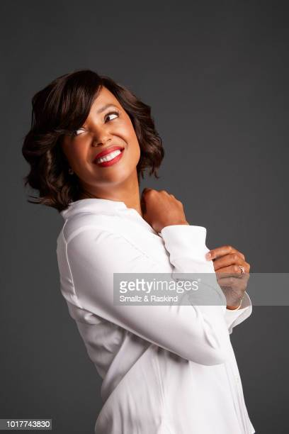 Aisha Tyler from FXX's 'Archer' poses for a portrait at the Getty Images Portrait Studio powered by Pizza Hut at San Diego 2018 Comic Con at Andaz...