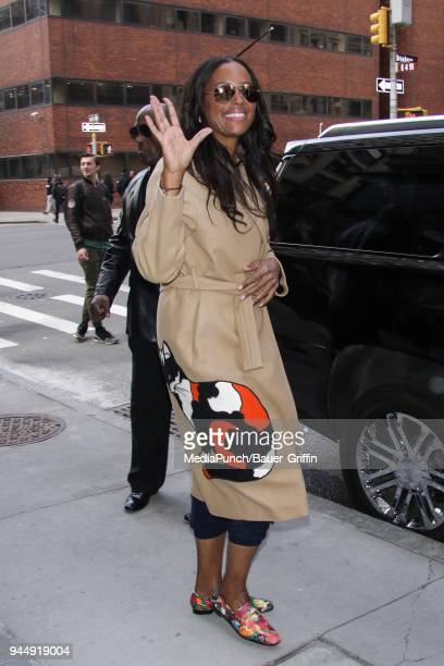 Aisha Tyler is seen on April 11 2018 in New York City
