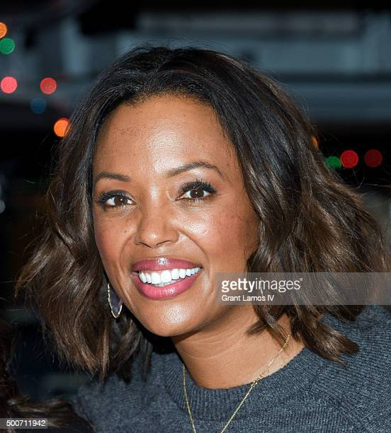Aisha Tyler of CBS' 'The Talk' rings the closing bell at the New York Stock Exchange on December 9 2015 in New York City