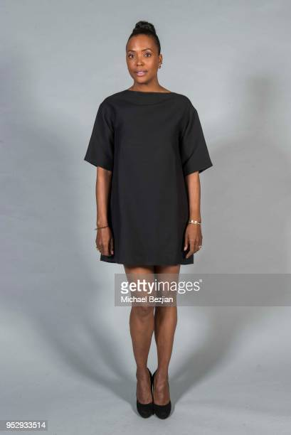 Aisha Tyler poses for portrait at 45th Daytime Emmy Awards Portraits by The Artists Project Sponsored by the Visual Snow Initiative on April 29 2018...