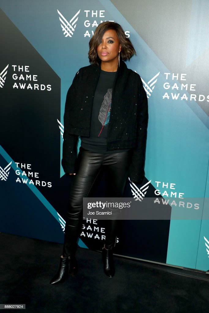 Aisha Tyler, presenter of the 'Best Debut Indie Game - Presented by Schick Hydro' award, attends The Game Awards 2017 at Microsoft Theater on December 7, 2017 in Los Angeles, California.