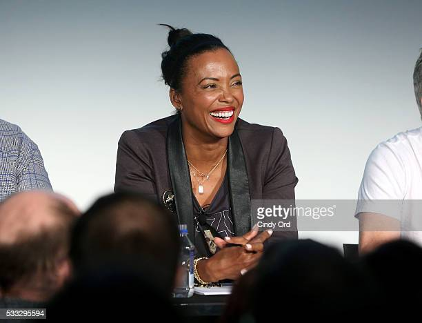 Aisha Tyler speaks at the Animated Voices panel discussion at the Vulture Festival at Milk Studios on May 21 2016 in New York City