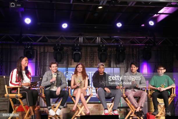 Aisha Tyler Tye Sheridan Olivia Cooke Lena Waithe Win Morisaki and Philip Zhao attend Ready Player One LIVE at SXSW Powered by Twitch and IMDb on...