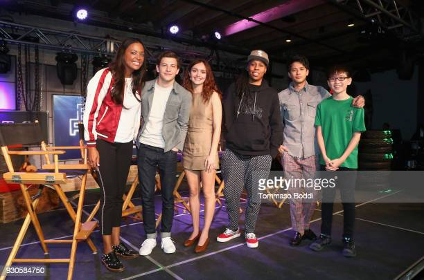 Aisha Tyler Tye Sheridan Olivia Cooke Lena Waithe Win Morisaki and Philip Zhao attend Ready Player One LIVE at SXSW Powered by Twitch and IMDb on...