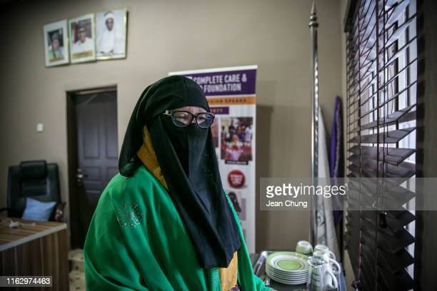 Aisha Wakil commonly referred to as Mama Boko Haram'' a negotiator who rescued between 200 and 500 girls from Boko Haram since 2009 stands in her...