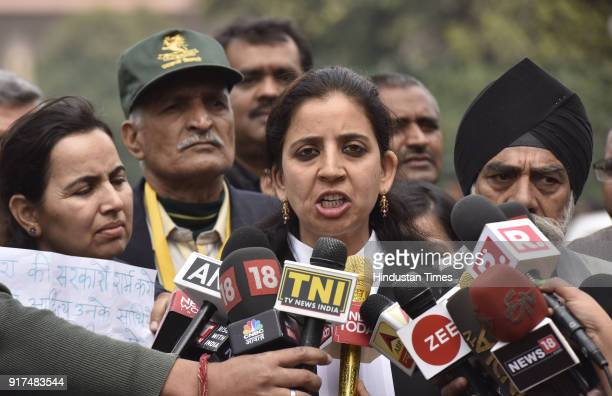 Aishwarya Bhati Advocate of Major Aditya Kumars father speaking with media person after Supreme Court bench cancelled the FIR against his son Major...
