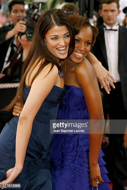 Aishwarya Rai and Kerry Washington during 2006 Cannes Film Festival 'The Wind That Shakes The Barley' Premiere at Palais Du Festival in Cannes France