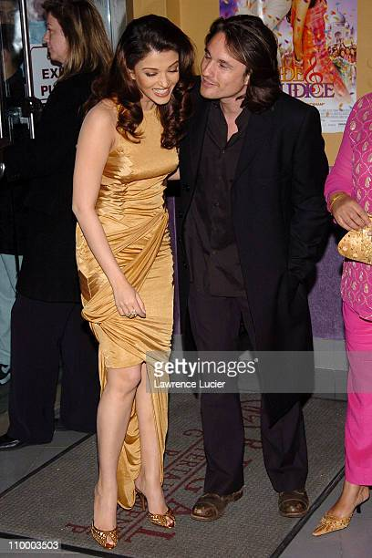 Aishwarya Rai and Martin Henderson during Bride Prejudice New York City Premiere at United Artists Union Square in New York City New York United...