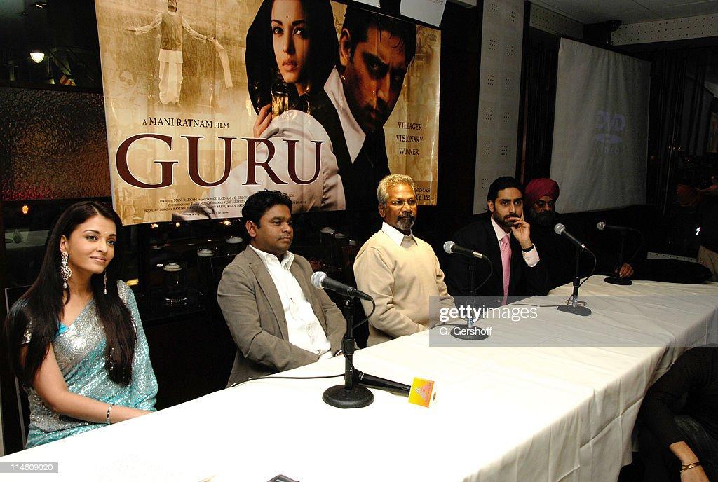 Aishwarya Rai AR Rahman Mani Ratnam Abhishek Bachchan and Bobby Bedi