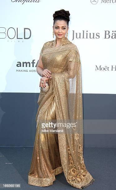 Aishwarya Rai arrives at amfAR's 20th Annual Cinema Against AIDS at Hotel du CapEdenRoc on May 23 2013 in Cap d'Antibes France
