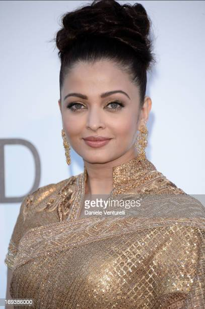 Aishwarya Rai arrives at amfAR's 20th Annual Cinema Against AIDS at Hotel du CapEdenRoc on May 23 2013 in Cap d'Antibes France