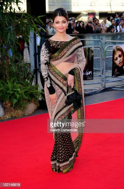 Aishwarya Rai arrives at the World Premiere of 'Raavan at the BFI Southbank on June 16 2010 in London England