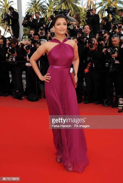 Aishwarya Rai arrives for the screening of Wall Street Money Never Sleeps at the Grand Auditorium Lumiere during the Cannes Film Festival France