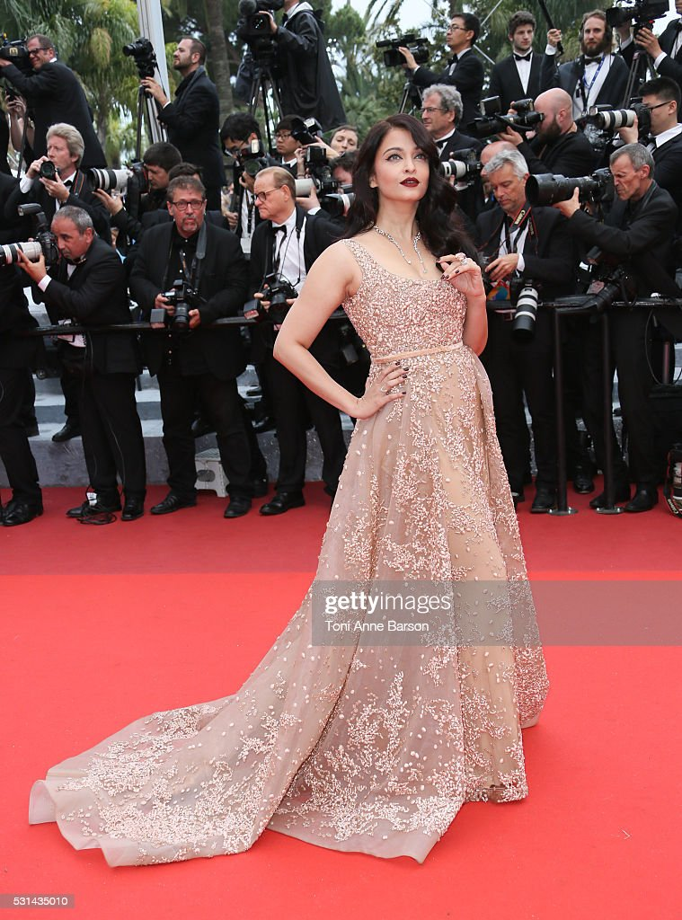 Aishwarya Rai attends a screening of 'The BFG' at the annual 69th Cannes Film Festival at Palais des Festivals on May 14, 2016 in Cannes, France.