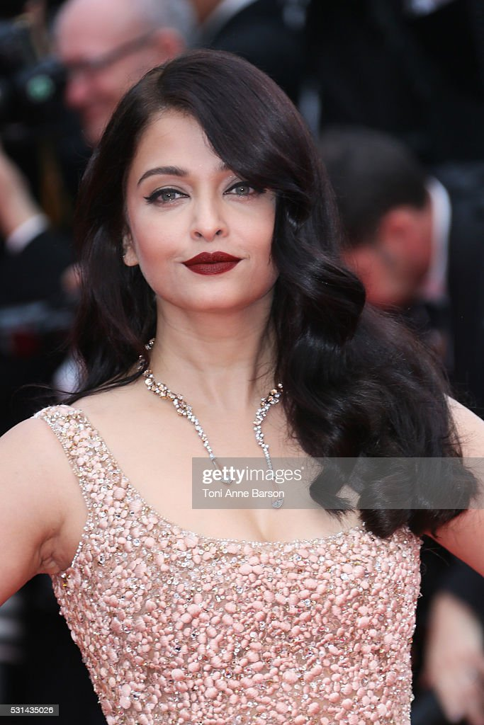 Aishwarya Rai attends a screening of `The BFG` at the annual 69th Cannes Film Festival at Palais des Festivals on May 14 2016 in Cannes France