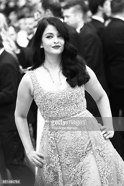 """Aishwarya Rai attends a screening of """"The BFG"""" at the annual 69th Cannes Film Festival at Palais des Festivals on May 14, 2016 in Cannes, France."""