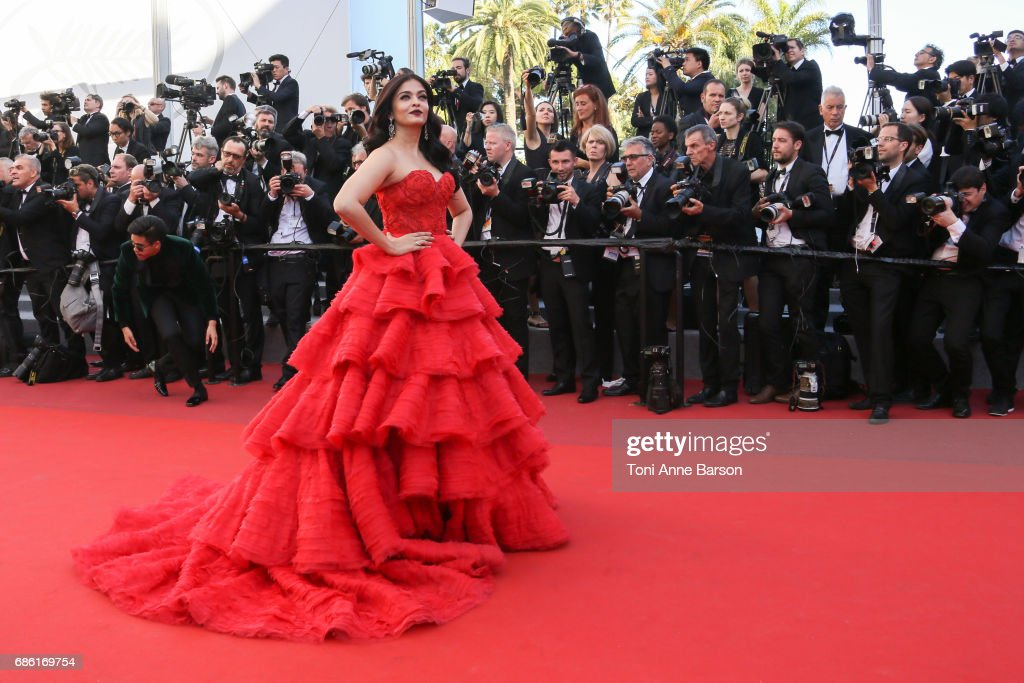 Aishwarya Rai attends the `120 Battements Par Minutes ` screening during the 70th annual Cannes Film Festival at Palais des Festivals on May 20 2017..