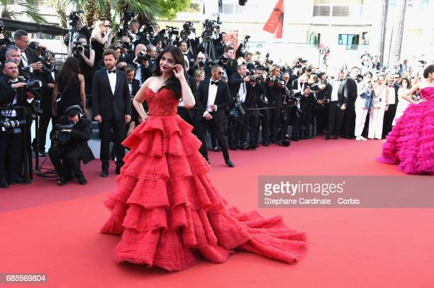 Aishwarya Rai attends the '120 Beats Per Minute ' premiere during the 70th annual Cannes Film Festival at Palais des Festivals on May 20 2017 in...