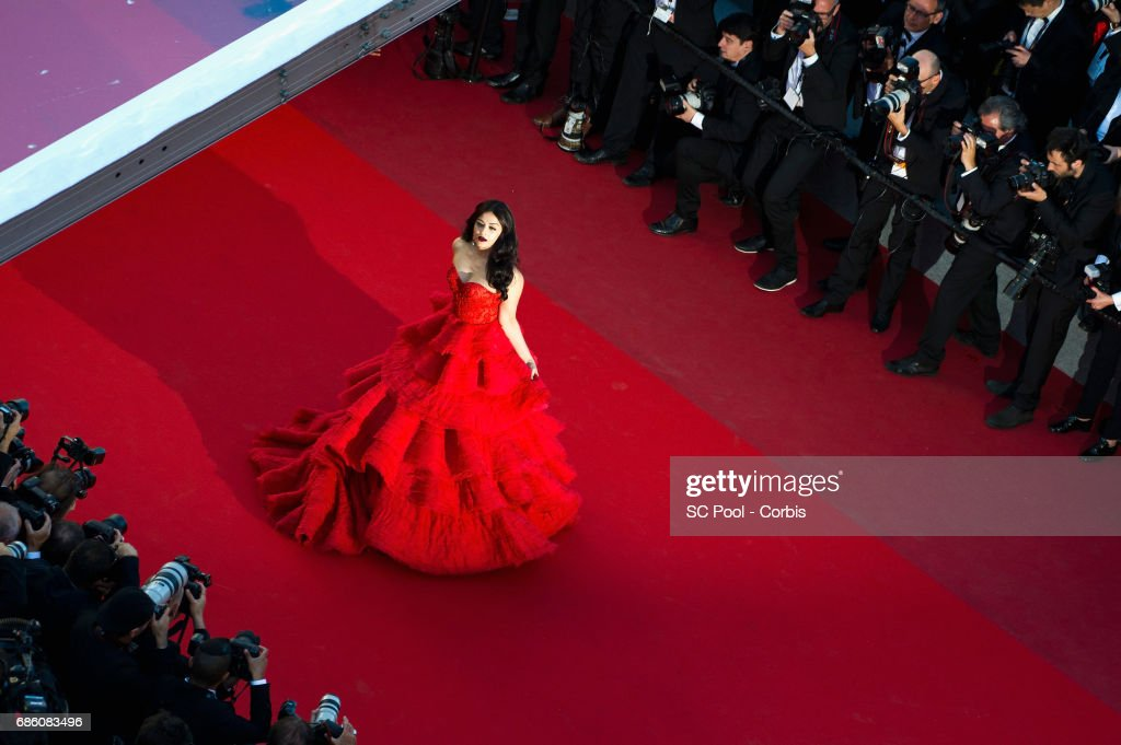 Aishwarya Rai attends the `120 Beats Per Minute ` premiere during the 70th annual Cannes Film Festival at Palais des Festivals on May 20 2017 in...