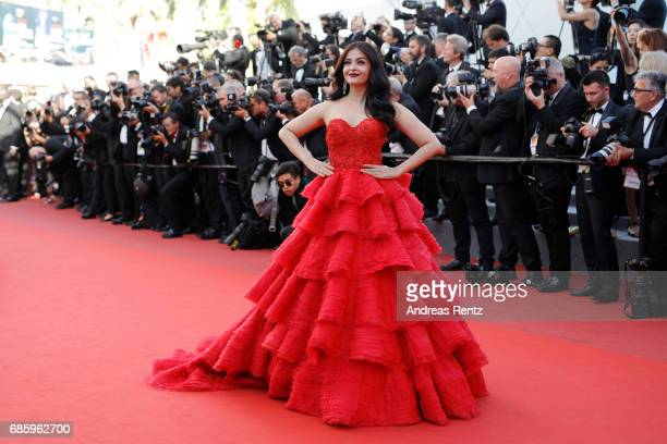 "Aishwarya Rai attends the ""120 Beats Per Minute "" screening during the 70th annual Cannes Film Festival at Palais des Festivals on May 20, 2017 in..."
