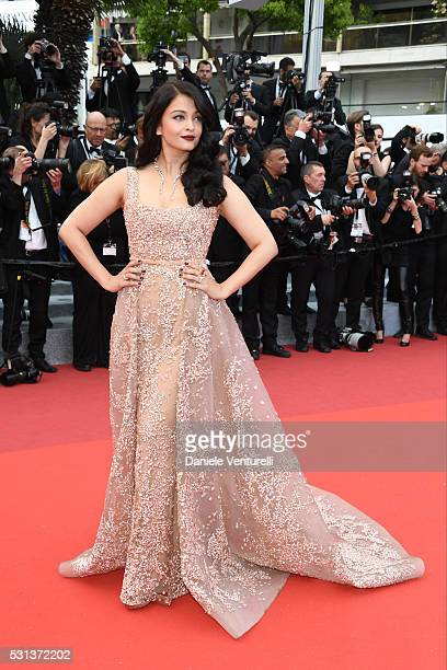 Aishwarya Rai attends 'The BFG ' premiere during the 69th annual Cannes Film Festival at the Palais des Festivals on May 14 2016 in Cannes
