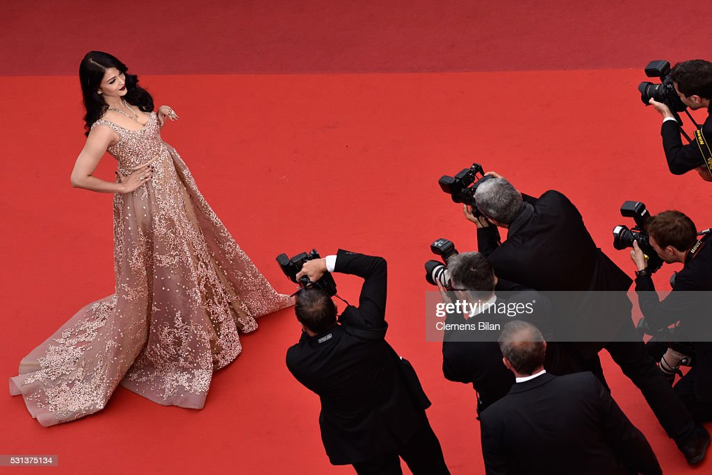 Aishwarya Rai attends `The BFG ` premiere during the 69th annual Cannes Film Festival at the Palais des Festivals on May 14 2016 in Cannes France