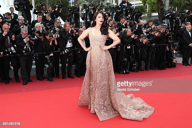 Aishwarya Rai attends The BFG premiere during the 69th annual Cannes Film Festival at the Palais des Festivals on May 14 2016 in Cannes France
