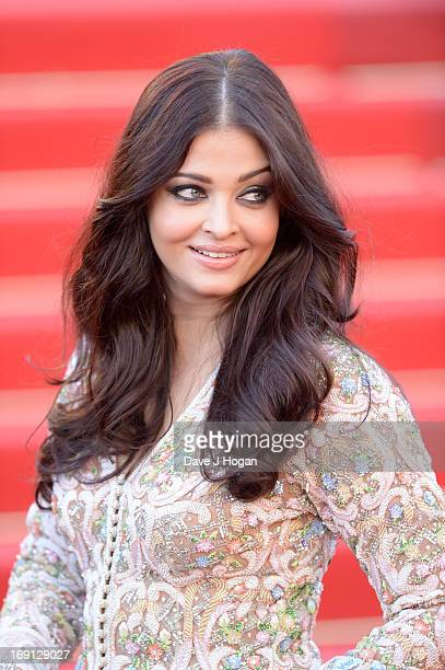 Aishwarya Rai attends the 'Blood Ties' Premiere during the 66th Annual Cannes Film Festival at the Palais des Festivals on May 20 2013 in Cannes...