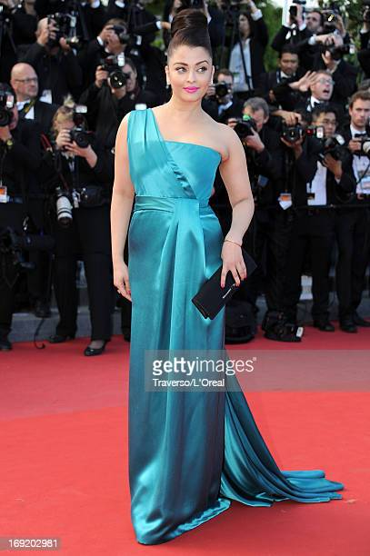 Aishwarya Rai attends the 'Cleopatra' premiere during The 66th Annual Cannes Film Festival at The 60th Anniversary Theatre on May 21 2013 in Cannes...