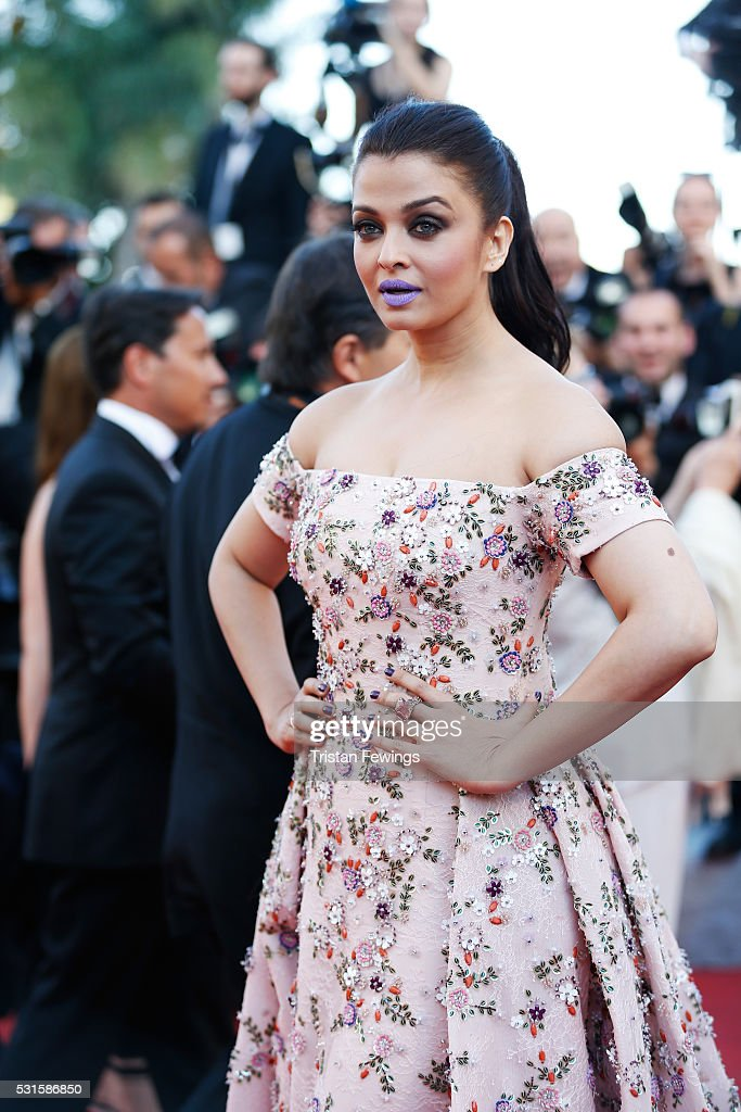 Aishwarya Rai attends the `From The Land Of The Moon ` premiere during the 69th annual Cannes Film Festival at the Palais des Festivals on May 15...