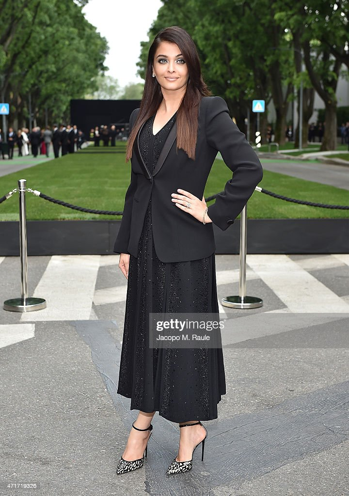 Aishwarya Rai attends the Giorgio Armani 40th Anniversary Silos Opening And Cocktail Reception on April 30 2015 in Milan Italy