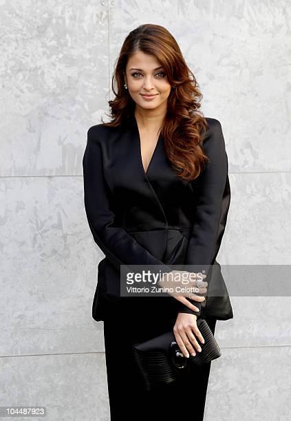 Aishwarya Rai attends the Giorgio Armani Spring/Summer 2011 fashion show during Milan Fashion Week Womenswear on September 27 2010 in Milan Italy