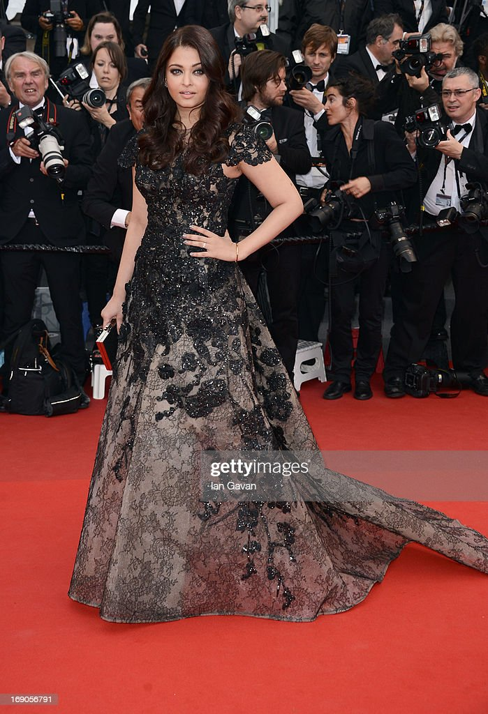 Aishwarya Rai attends the `Inside Llewyn Davis` Premiere during the 66th Annual Cannes Film Festival at Grand Theatre Lumiere on May 19 2013 in...