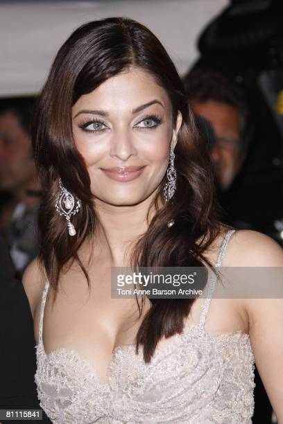 Aishwarya Rai attends the 'Kung Fu Panda' party at Carlton Beach during the 61st Cannes International Film Festival on May 15 2008 in Cannes France
