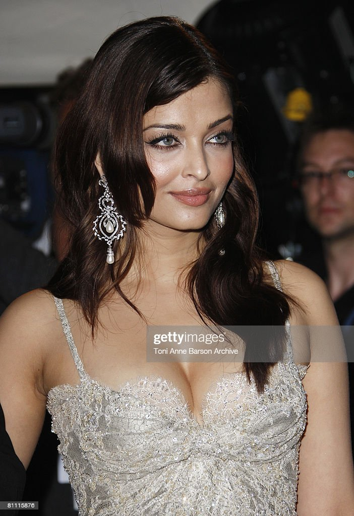 Aishwarya Rai attends the `Kung Fu Panda` party at Carlton Beach during the 61st Cannes International Film Festival on May 15 2008 in Cannes France