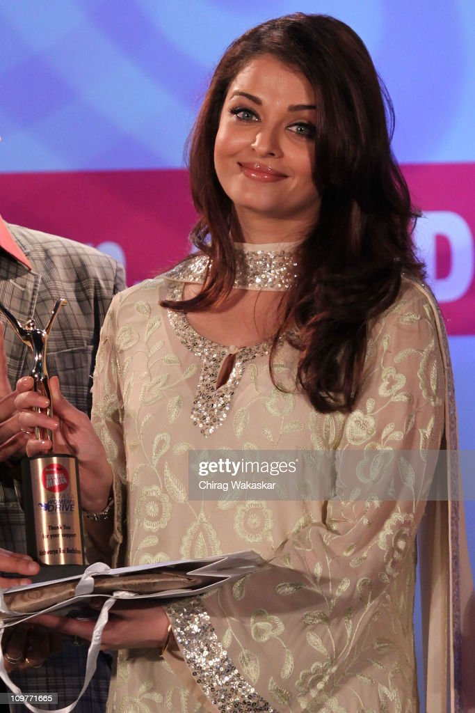 Aishwarya Rai attends the Lavasa Women`s Drive 2011 Awards at Hyatt Regency as part of International Women`s Day celebrations on March 4 2011 in...