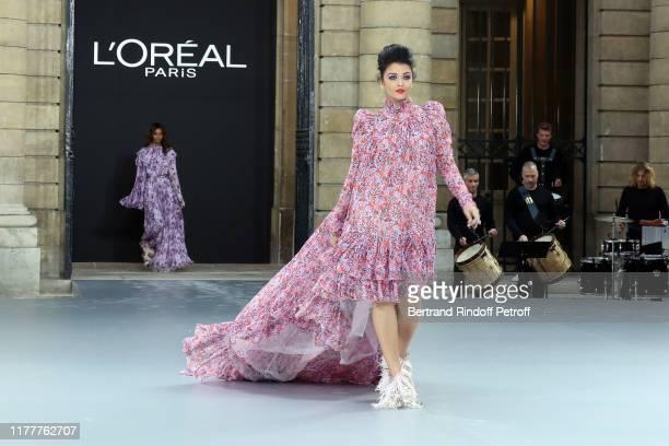 """Aishwarya Rai attends the """"Le Defile L'Oreal Paris"""" show as part of Paris Fashion Week At Monnaie de Paris on September 28, 2019 in Paris, France."""