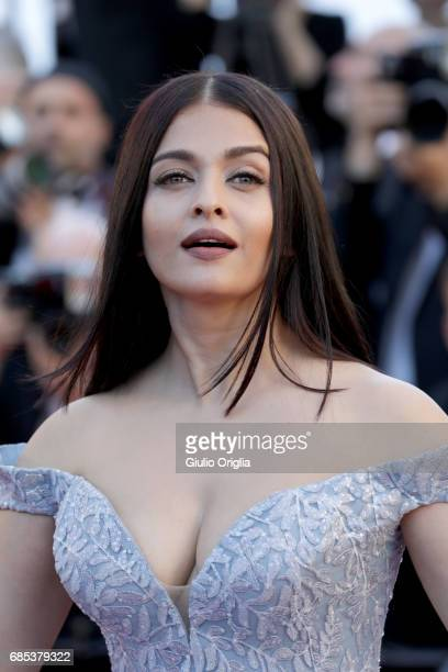 Aishwarya Rai attends the 'Okja' screening during the 70th annual Cannes Film Festival at Palais des Festivals on May 19 2017 in Cannes France