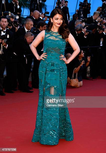 Aishwarya Rai attends the Premiere of Carol during the 68th annual Cannes Film Festival on May 17 2015 in Cannes France
