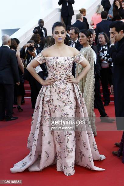 Aishwarya Rai attends the premiere of ''From The Land And The Moon ' during the 69th Annual Cannes Film Festival at Palais des Festivals in Cannes...