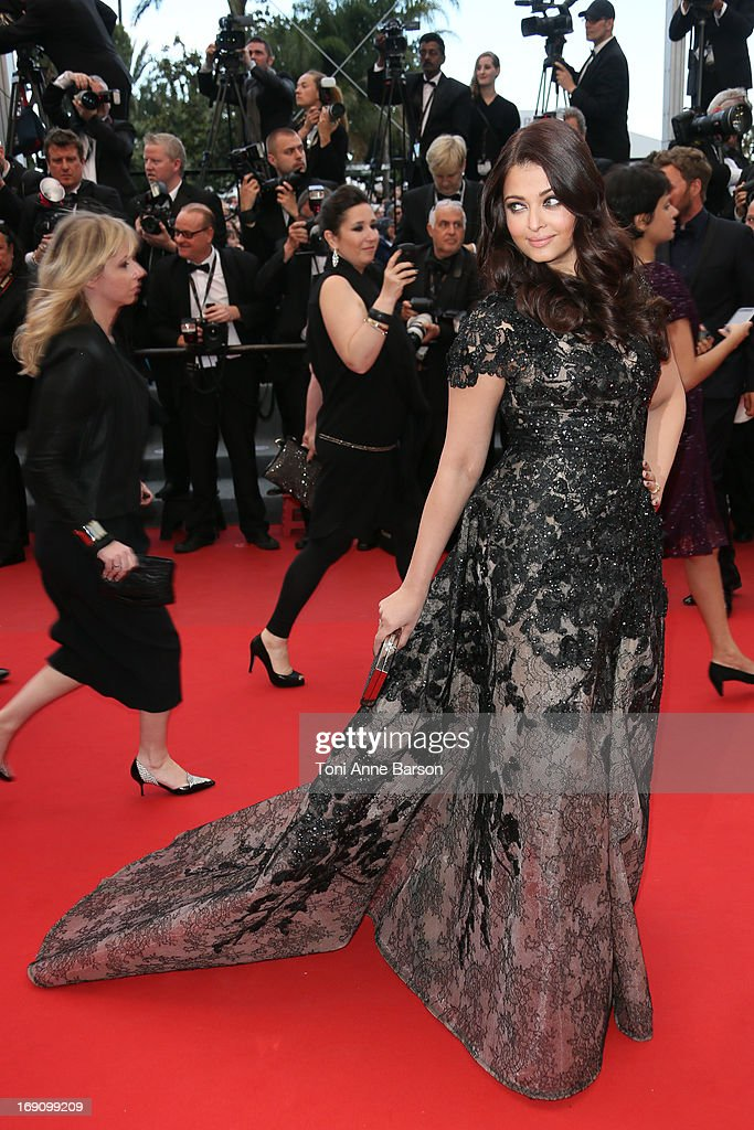 Aishwarya Rai attends the Premiere of `Inside Llewyn Davis` at The 66th Annual Cannes Film Festival on May 19 2013 in Cannes France