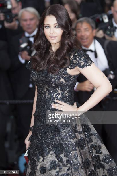Aishwarya Rai attends the Premiere of 'Inside Llewyn Davis' at The 66th Annual Cannes Film Festival on May 19 2013 in Cannes France