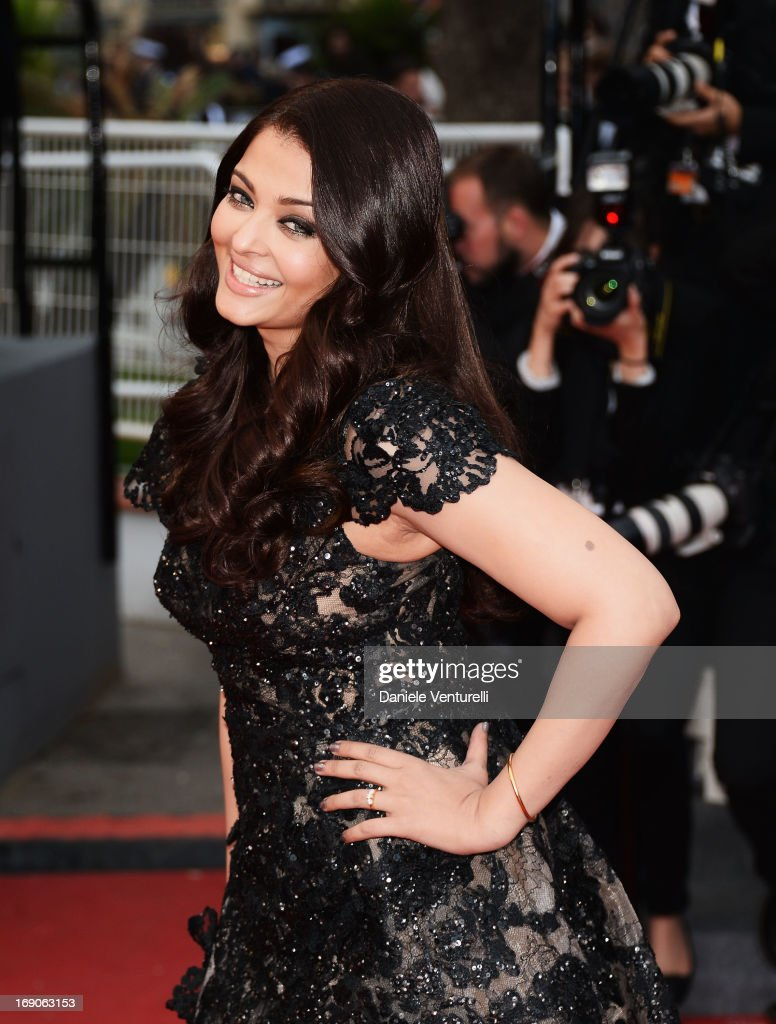 Aishwarya Rai attends the Premiere of `Inside Llewyn Davis` during the 66th Annual Cannes Film Festival at Palais des Festivals on May 19 2013 in...