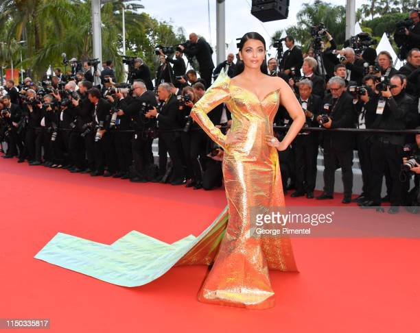 Aishwarya Rai attends the screening of A Hidden Life during the 72nd annual Cannes Film Festival on May 19 2019 in Cannes France