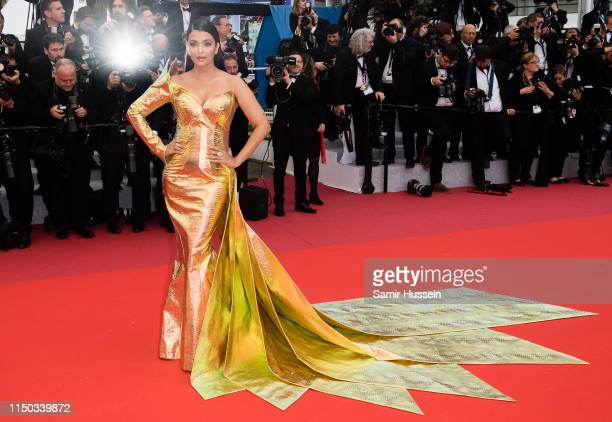 """Aishwarya Rai attends the screening of """"A Hidden Life """" during the 72nd annual Cannes Film Festival on May 19, 2019 in Cannes, France."""