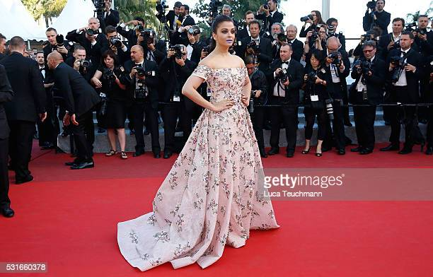 Aishwarya Rai attends the screening of 'From The Land Of The Moon ' at the annual 69th Cannes Film Festival at Palais des Festivals on May 15 2016 in...